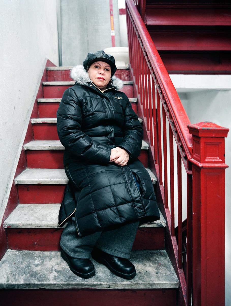 Mami on Stairs, 2006 Washington Heights, NYC, U.S.