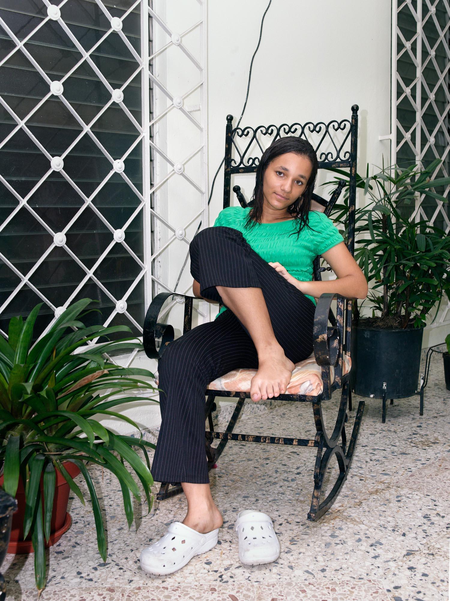 Laura on the Porch, 2008. Gazcue, Santo Domingo, R.D.