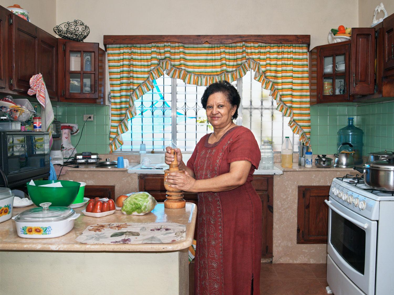 Tía Chea in the Kitchen, 2008. Gazcue, Santo Domingo, R.D.