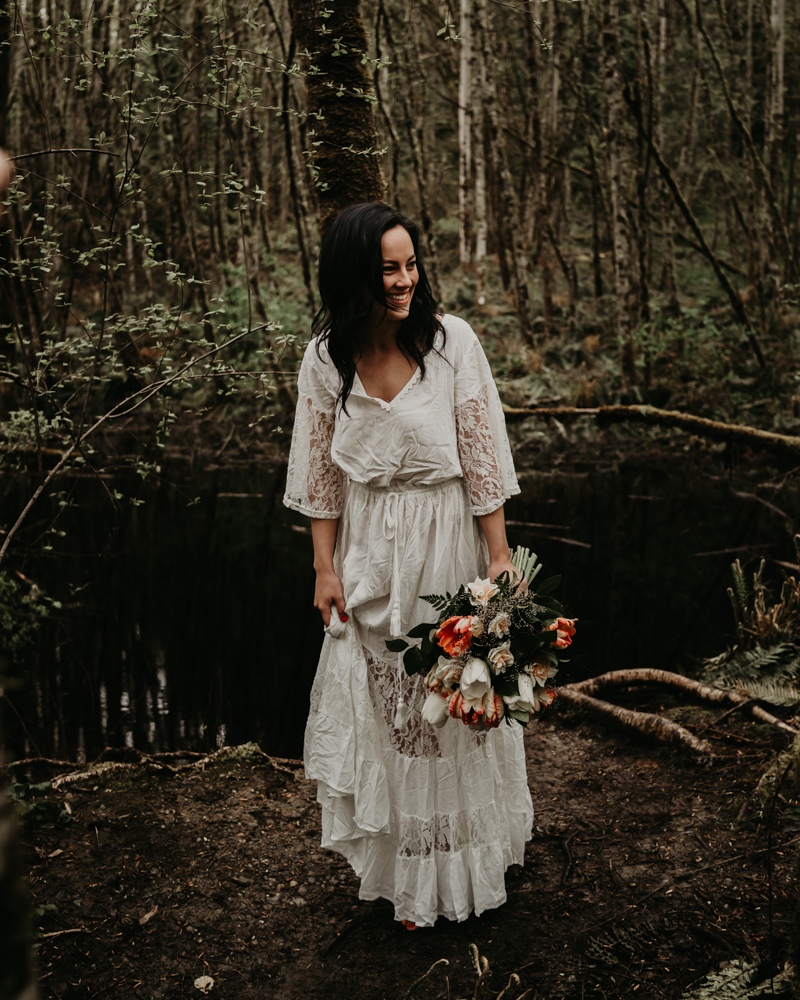 Mackenzie Jerad Waterfall Elopement Pacific Northwest Intimate Wedding Photographer