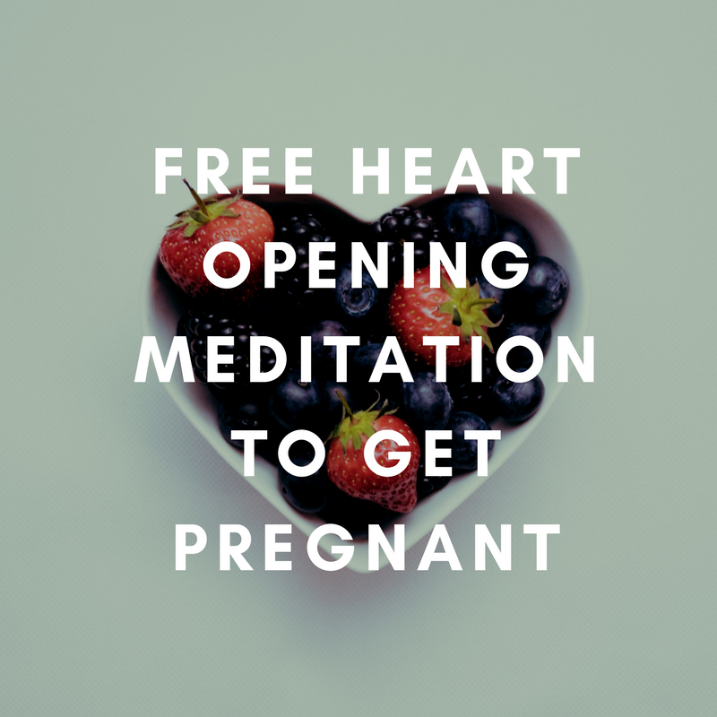 free heart opening meditation to get pregnant