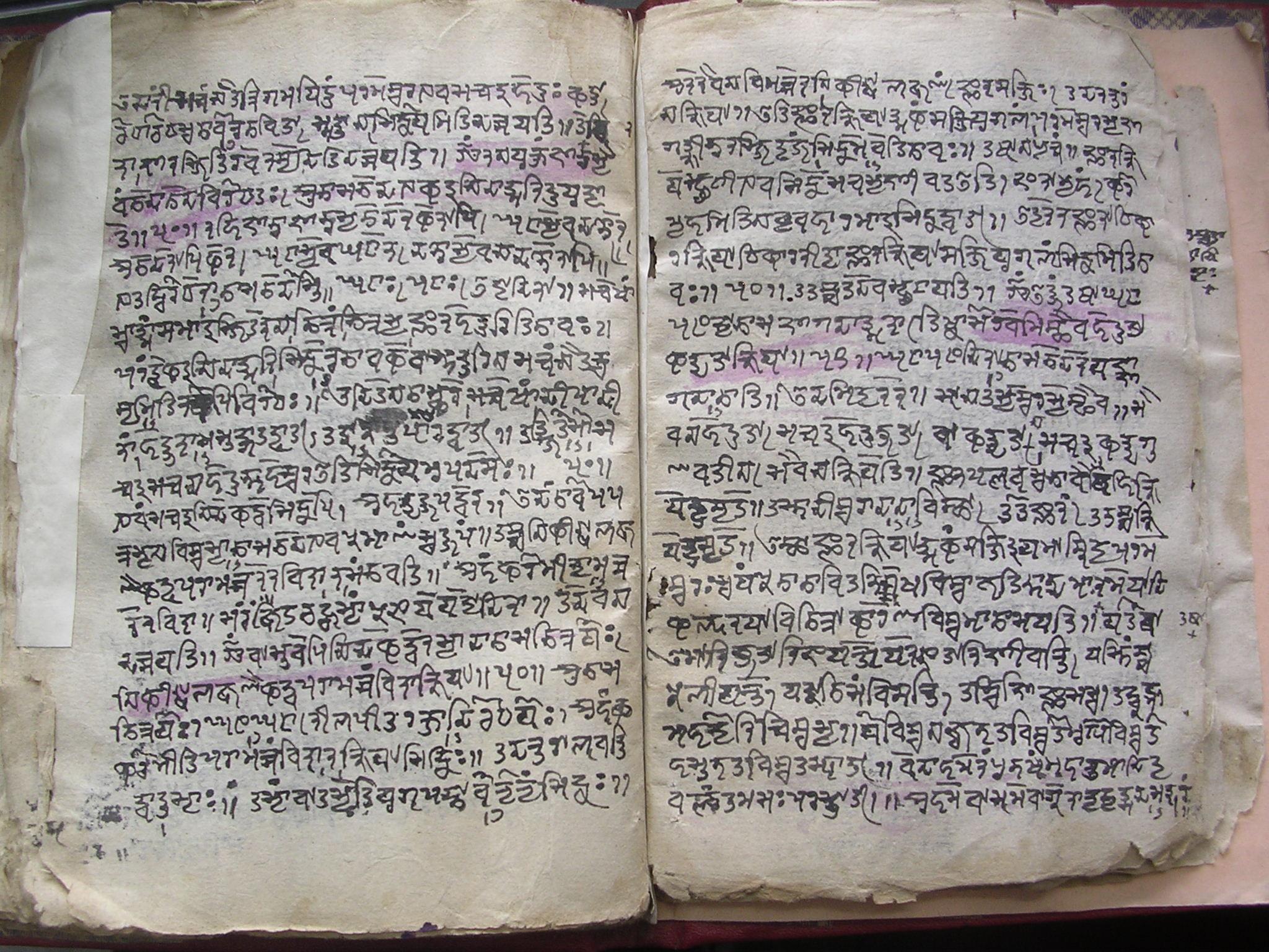 A manuscript from Kashmīr. Language: Sanskrit. Script: Śāradā.