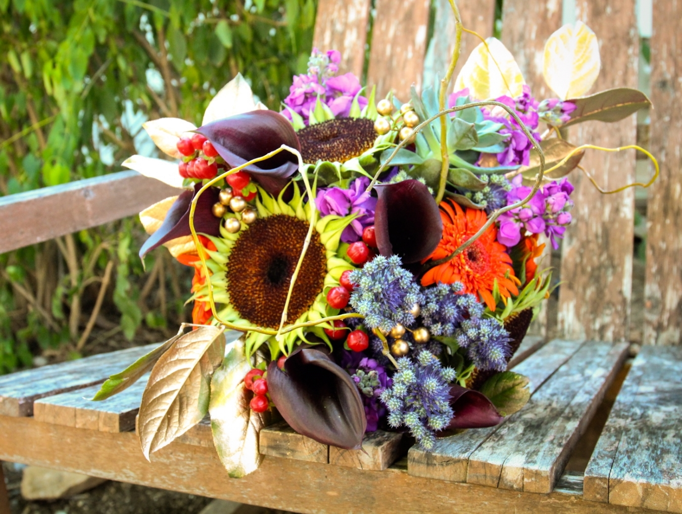 Fall flowers with lots of texture and color