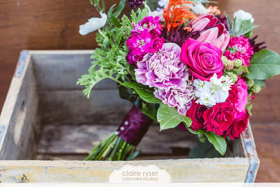 Farmer's Market bouquet in bright summer pinks