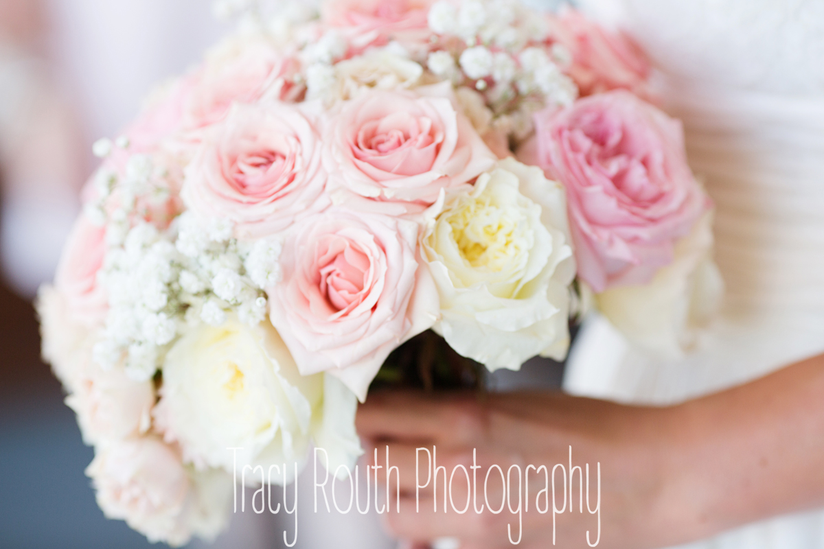 Perfect pink and cream roses