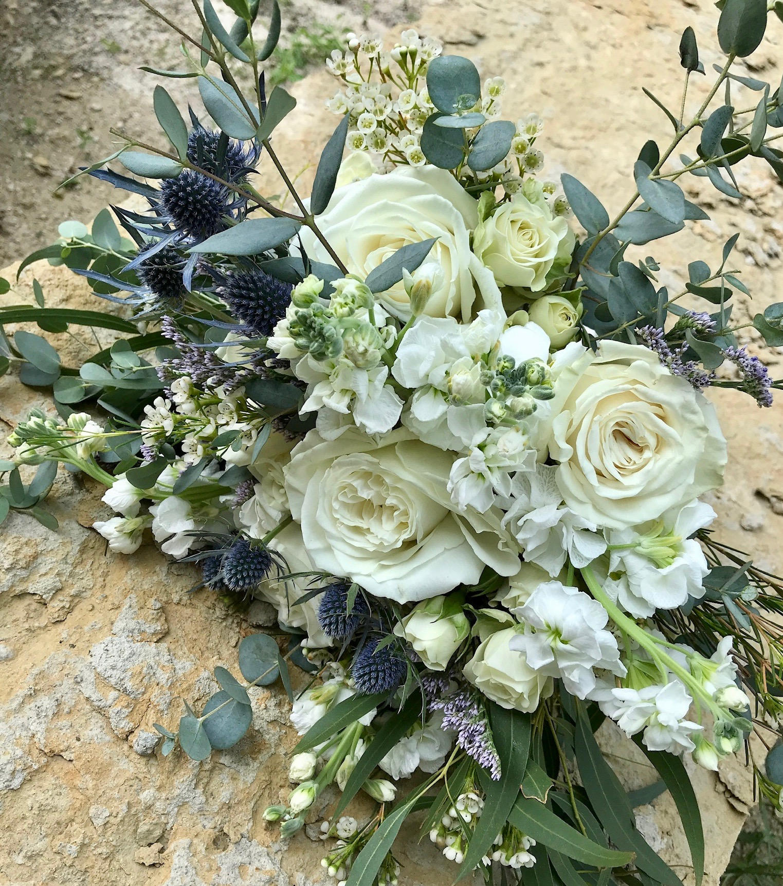 A close up of the Bride's Bouquet