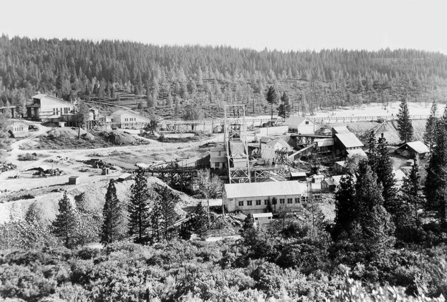 Idaho Maryland Mine, Grass Valley, CA. Photo courtesy of  Mining Artifacts.com  .