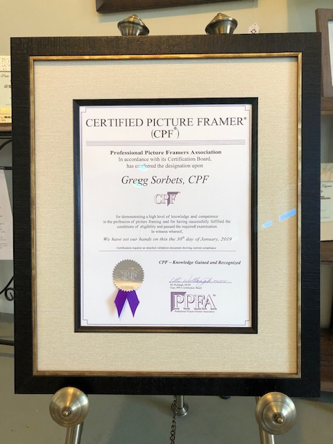 Certified Picture Framer