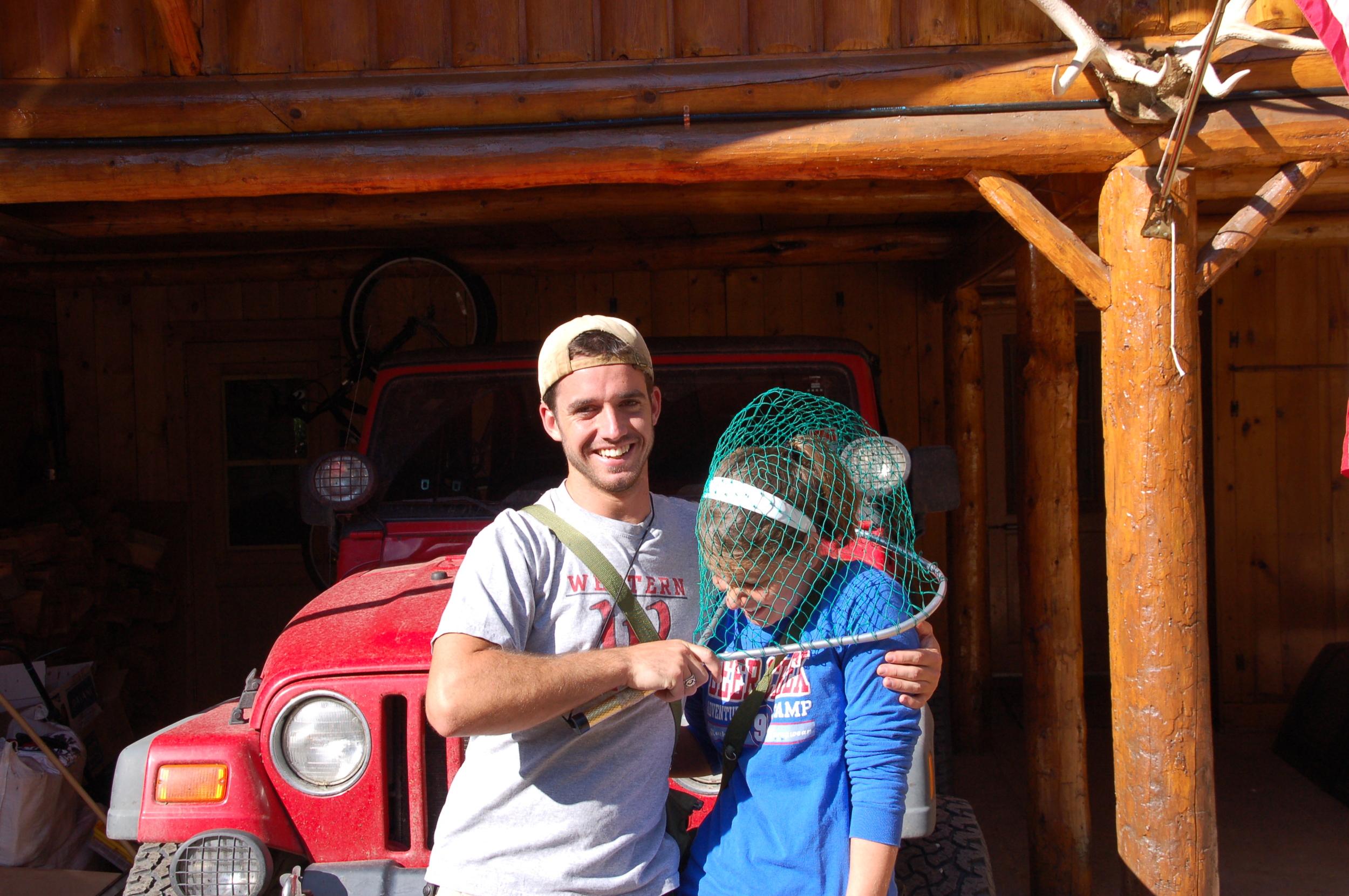 Kim and I at my granddad's cabin.