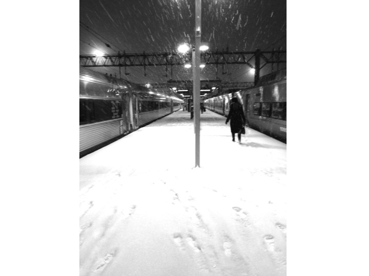 22  |  Woman on Snowy Platform (New Haven)
