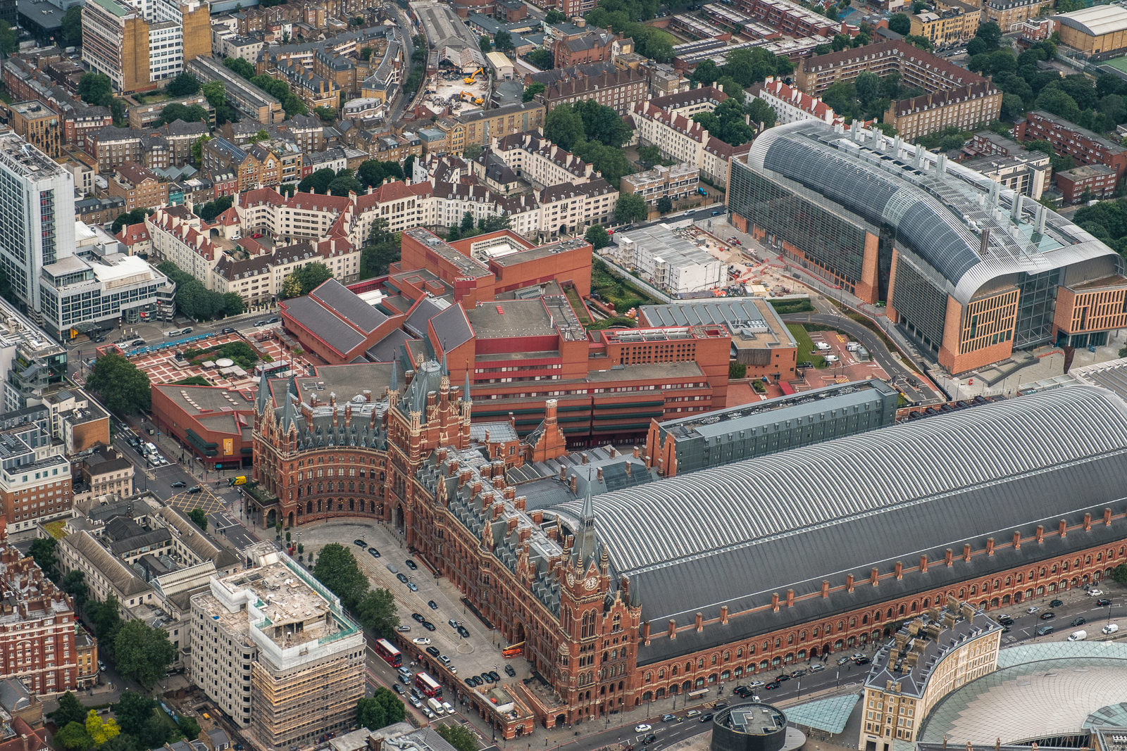 St Pancras station and Brish Library. Top right- new Francis Crick Institute. ISO800 16-55mm f2.8 1/250s