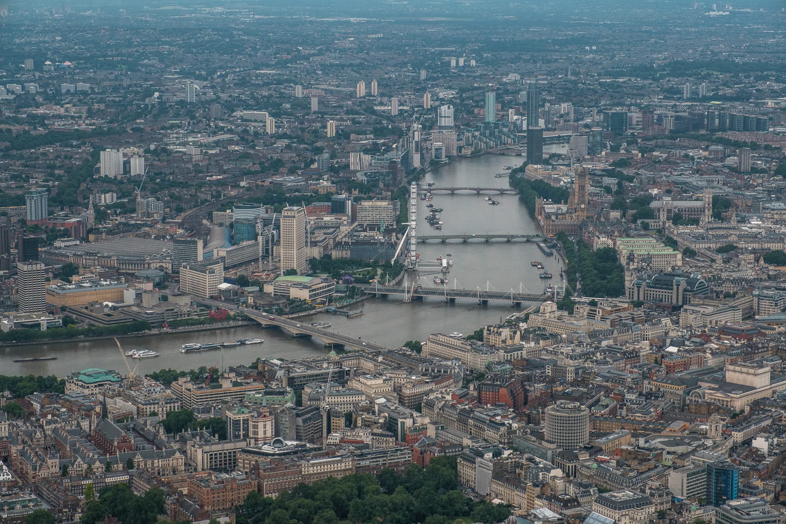 London towards Westminster. ISO500 16-55mm f5.6 1/250s