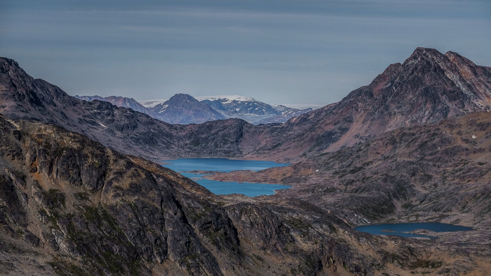 mountain lakes in Tasiilaq area