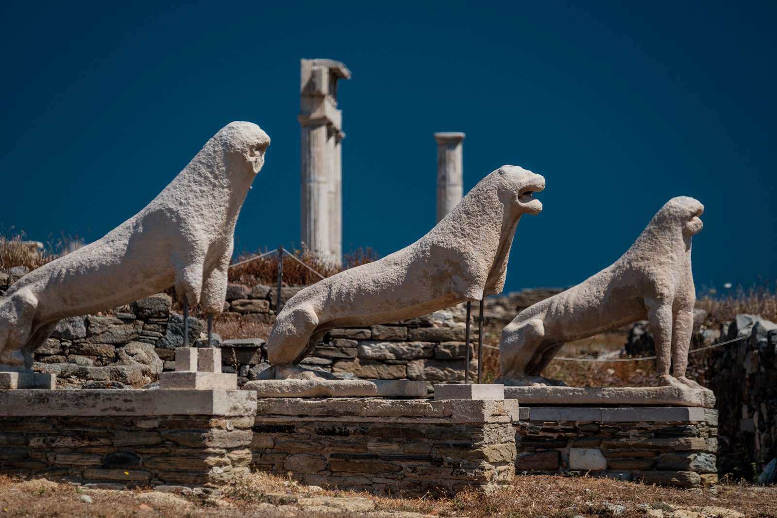 Delos, the terrace of the Lions