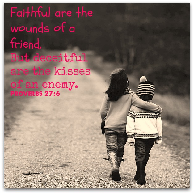 Faithful are the wounds of a friend sowandgather.com Proverbs 27:6