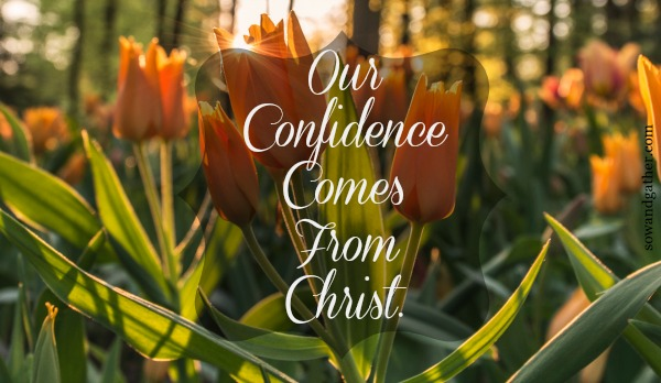 Our-confidence-comes-from-Christ sowandgather.com #sowandgather #transformation