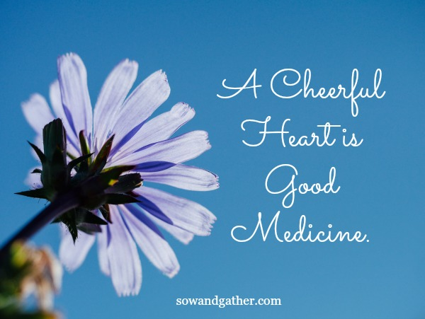 A Cheerful Heart Is Good Medicine #sowandgather #proverbs