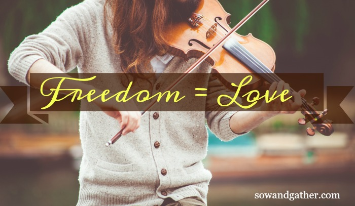 #freedom equals love #sowandgather Where Do You Stand On The Word Freedom?