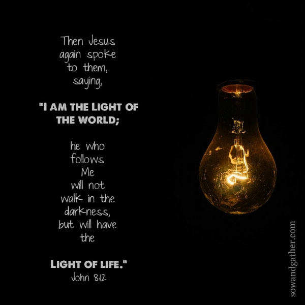 I Am The LIght Of The World #jesus #sowandgather