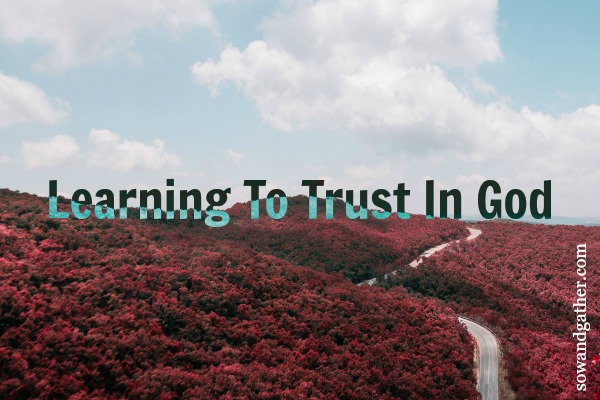 Learning To Trust God #sowandgather #trust #prayer #healing