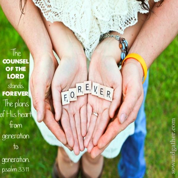 #sowandgather Psalm 33:11