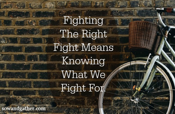 #sowandgather #fighttherightfight Fighting The Right Fight Means Knowing What We Fight For
