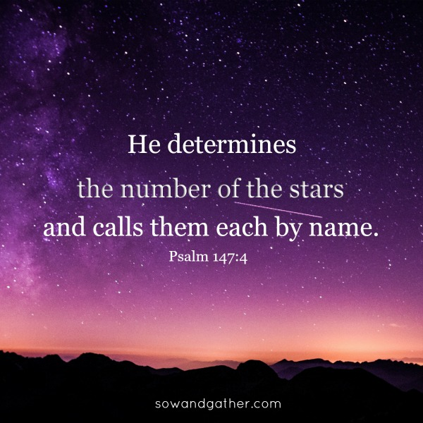#sowandgather He-determines-the-number-of-the-stars-and-calls-them-each-by-name Psalm 147:4