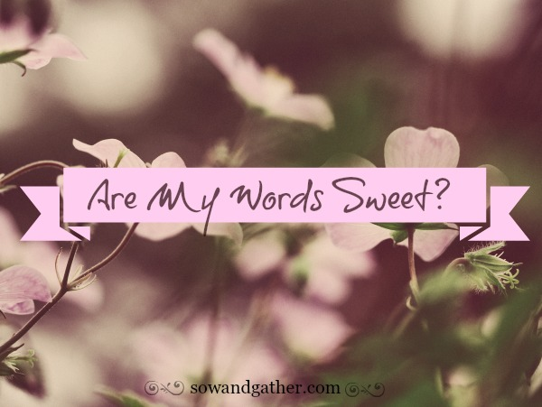 Are My Words Sweet? Proverbs #sowandgather #love