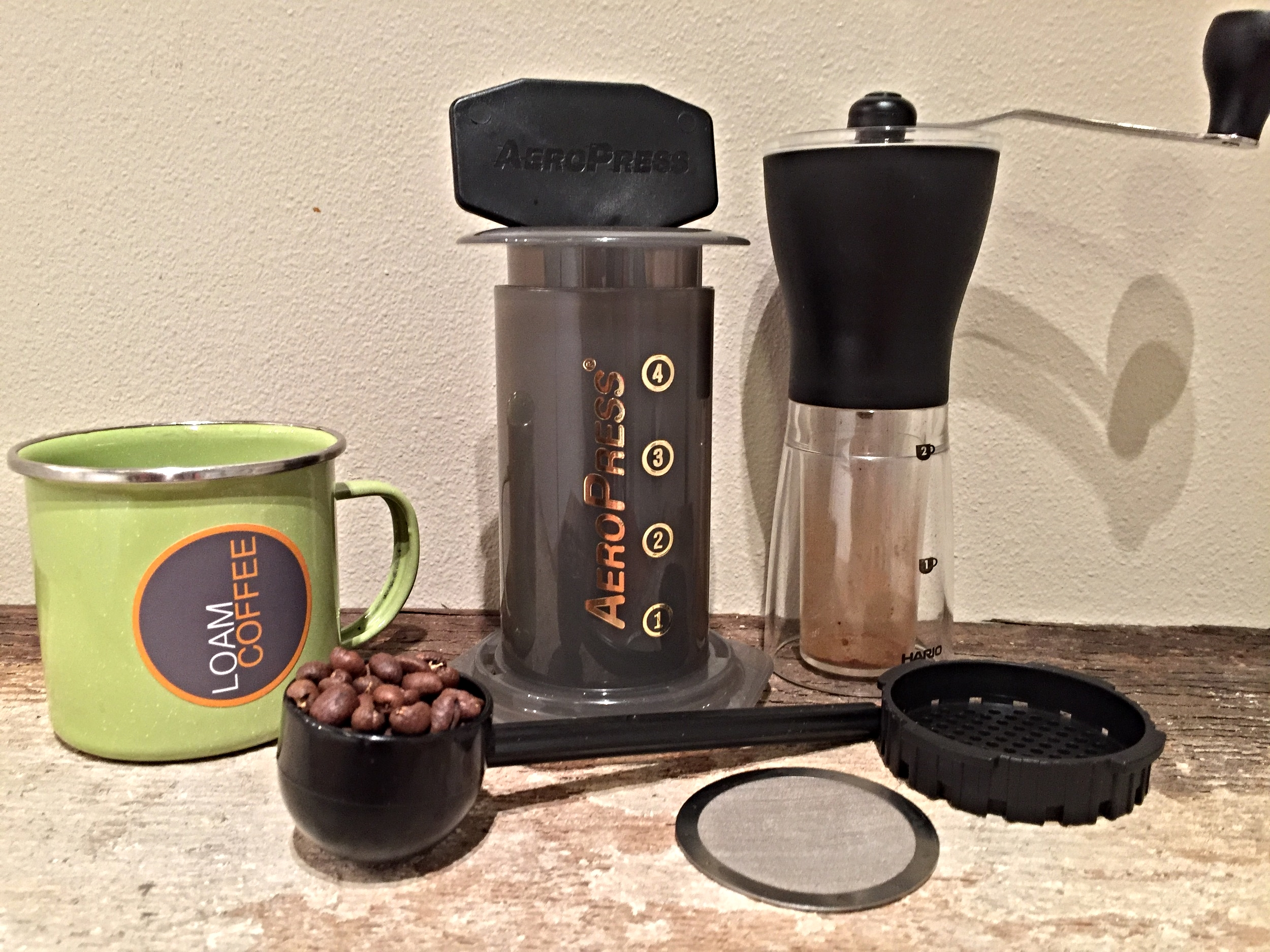 Your Aeropress set up ...