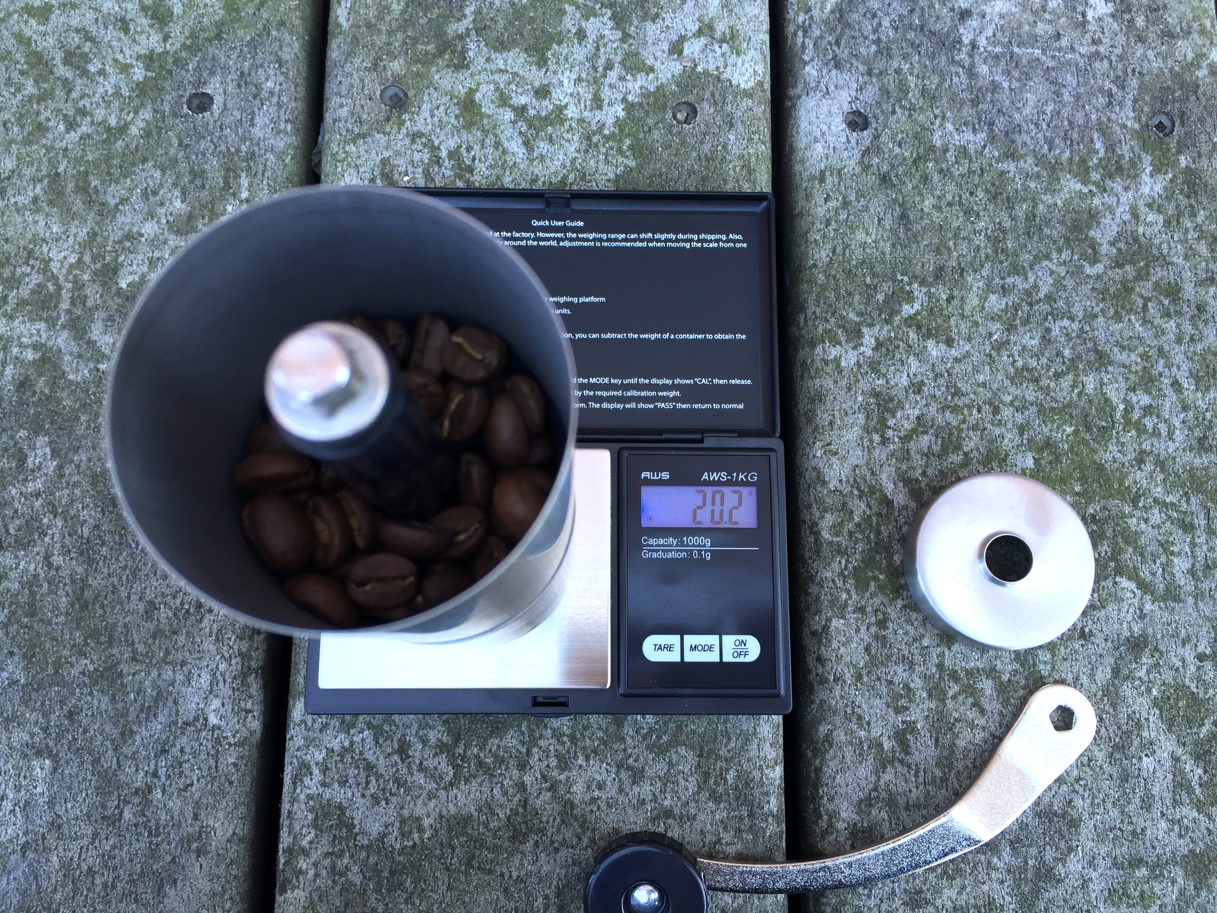 Measure out your beans (20g)