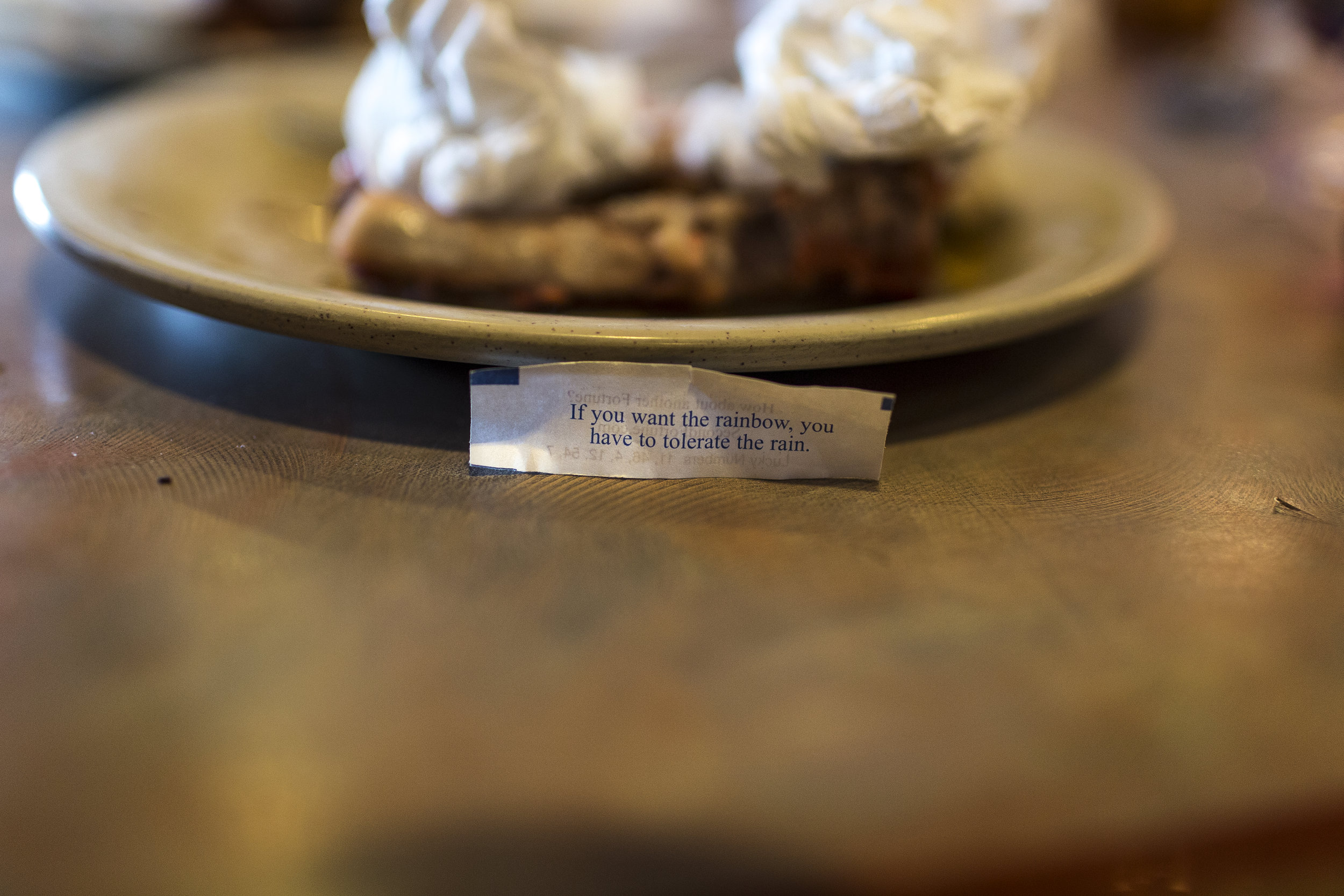 Fransuas' fortune at a Chinese buffet, his and his father's first stop upon arrival in Houston on Jun. 10, 2017. Martin do Nascimento for The Texas Tribune.
