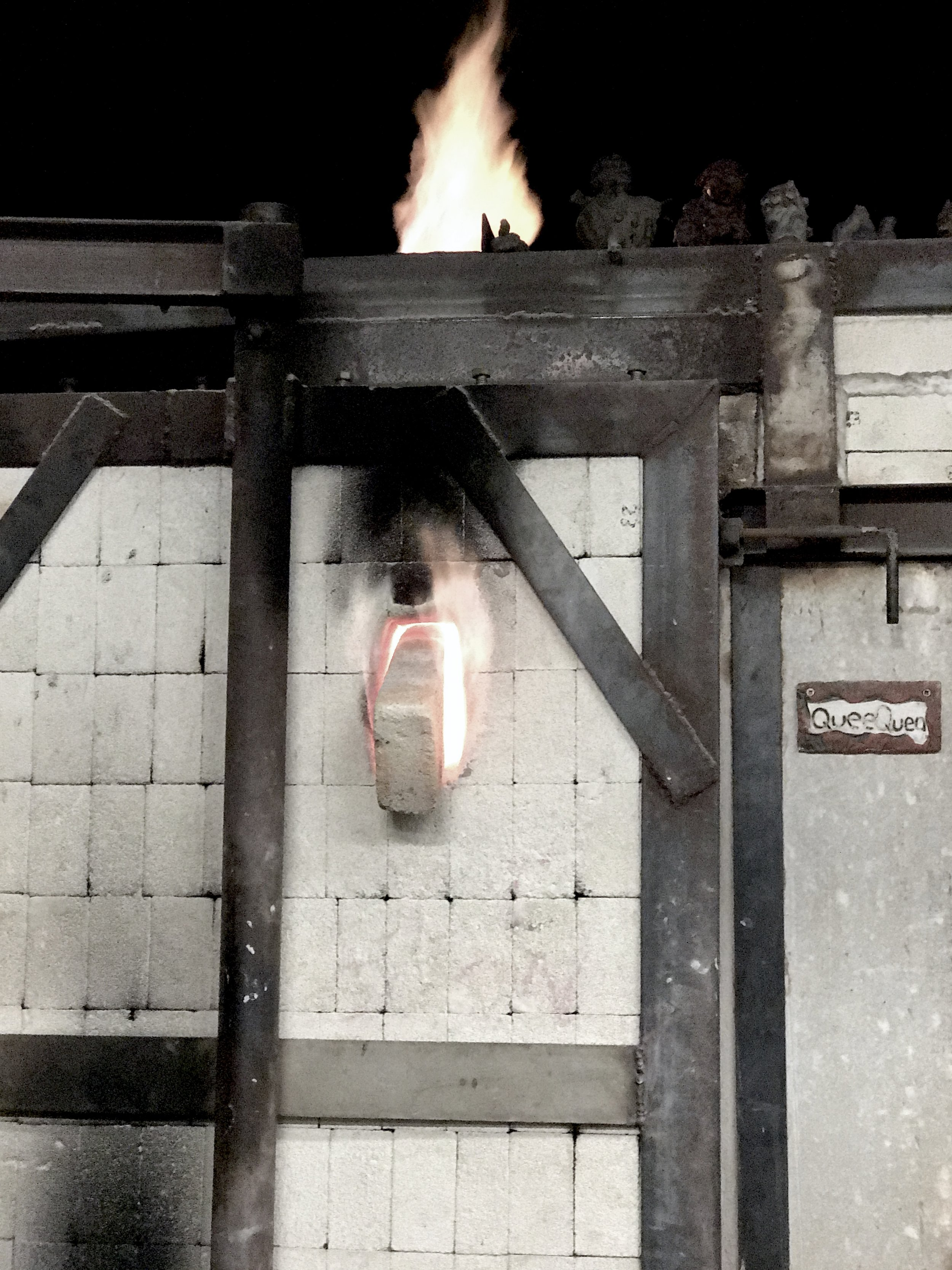 gas kiln at greenwhich house pottery in NYC