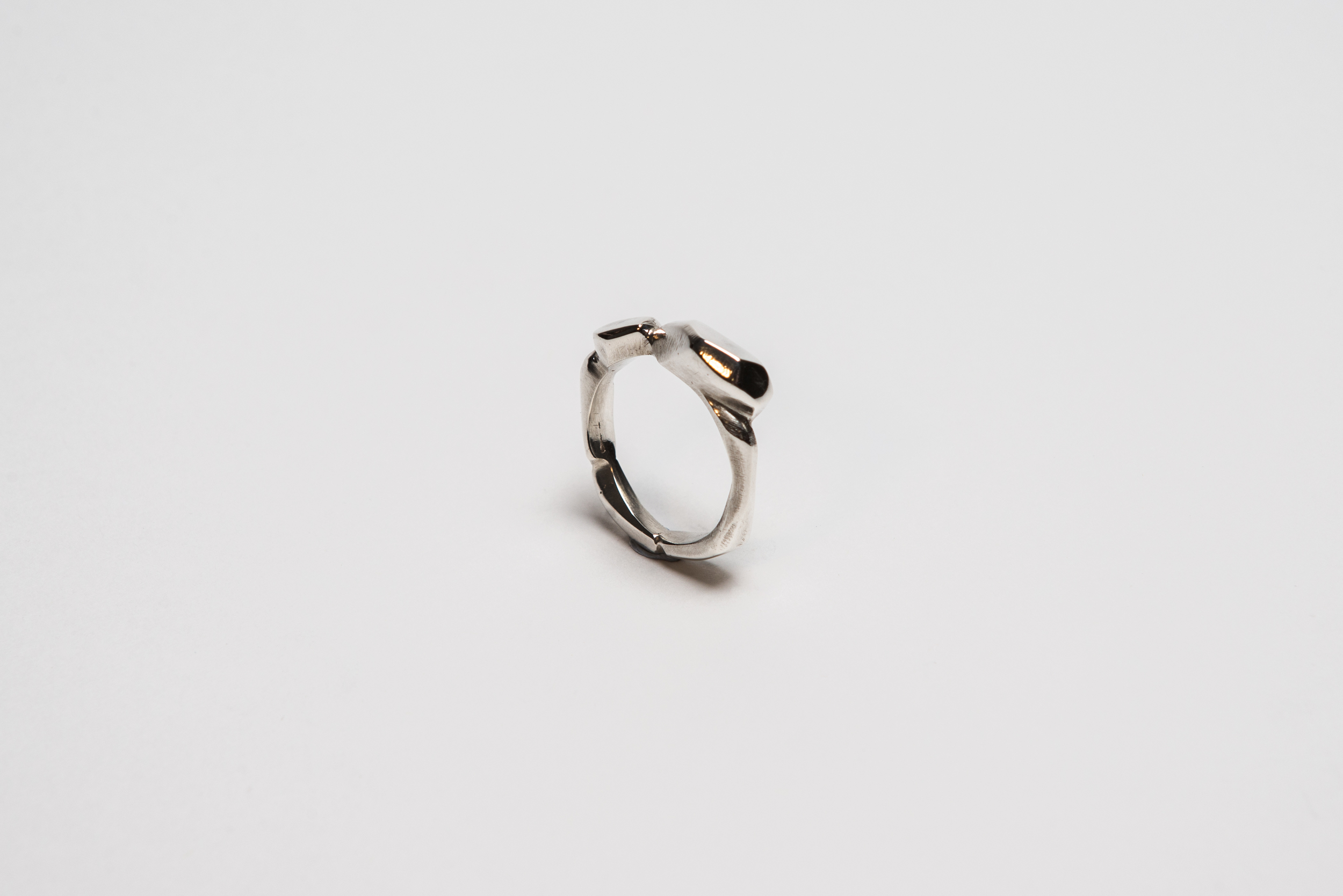 Silver Cast Rocky Ring