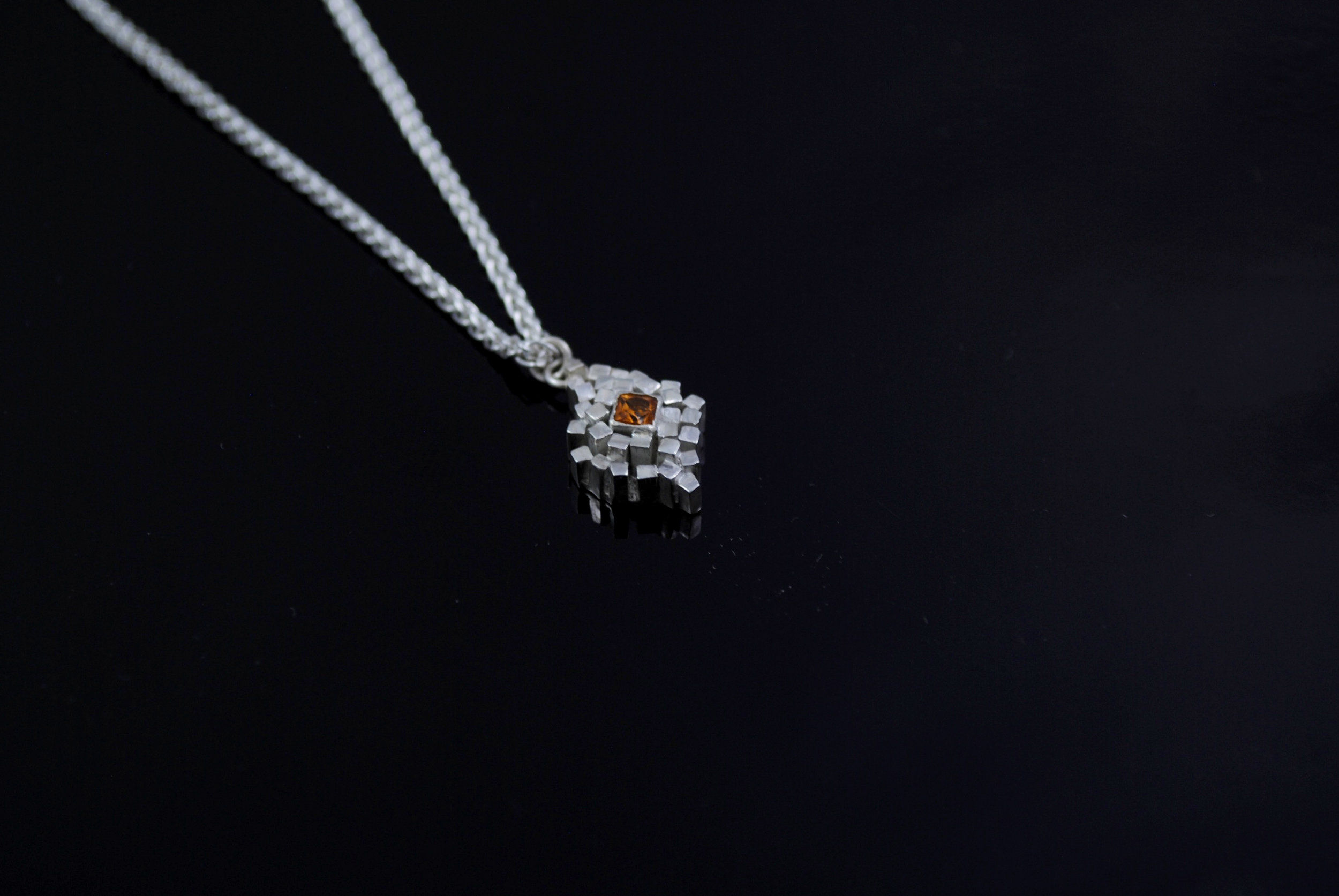 Rebecca Sarah Black - Mandarin Garnet Encrusted Necklace - 2018.jpg