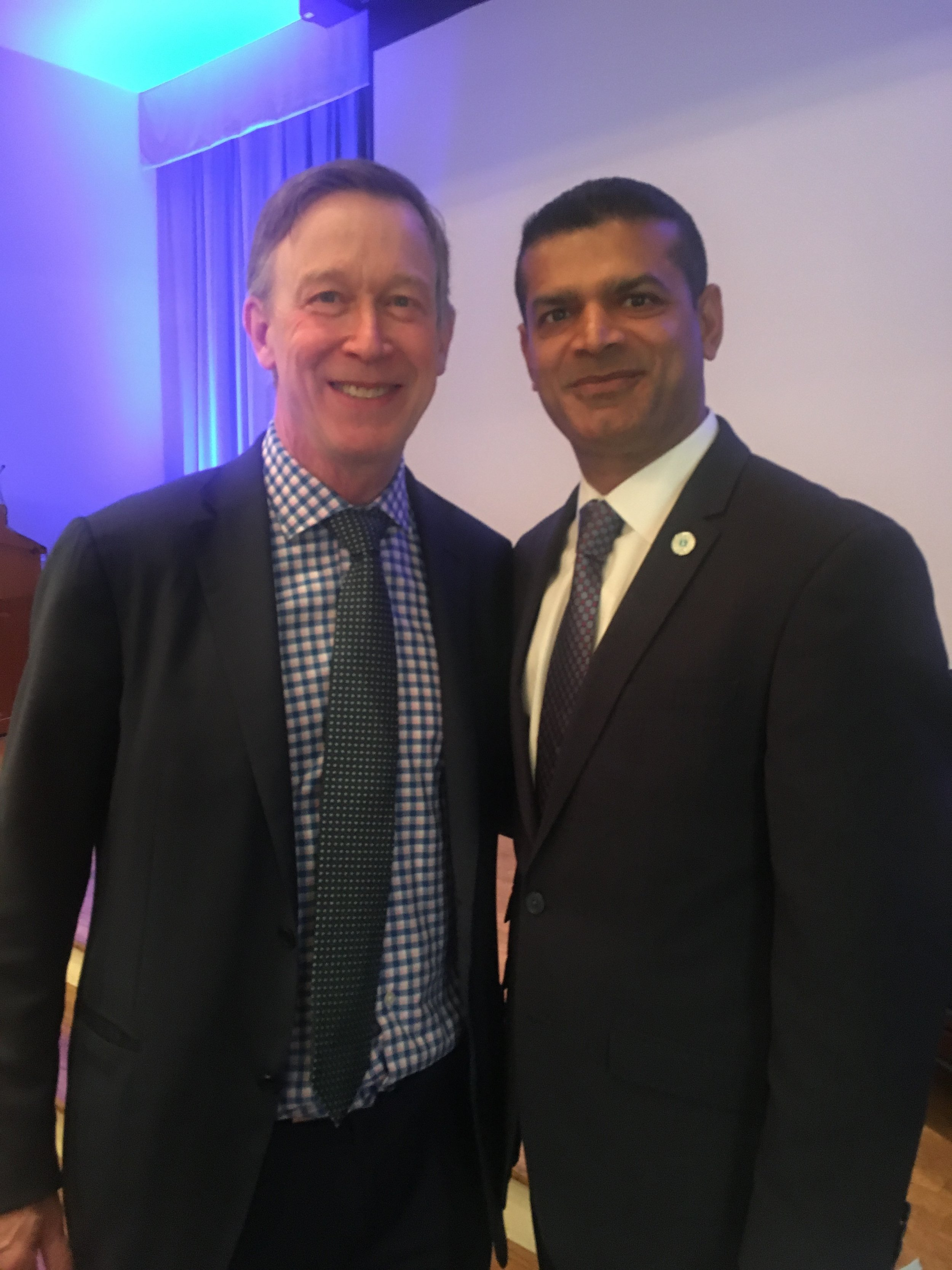 Mr. Nathani with Governor Hon. John Hickenlooper