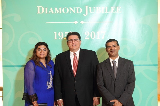 Mr and Mrs Nathani with Hon. Ronaldo Pablos, Texas Secretary of State