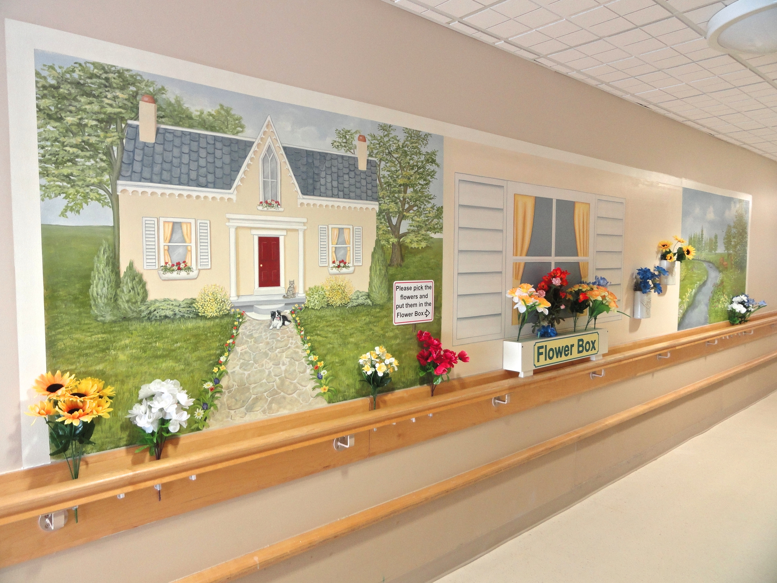 Interactive Flower Mural