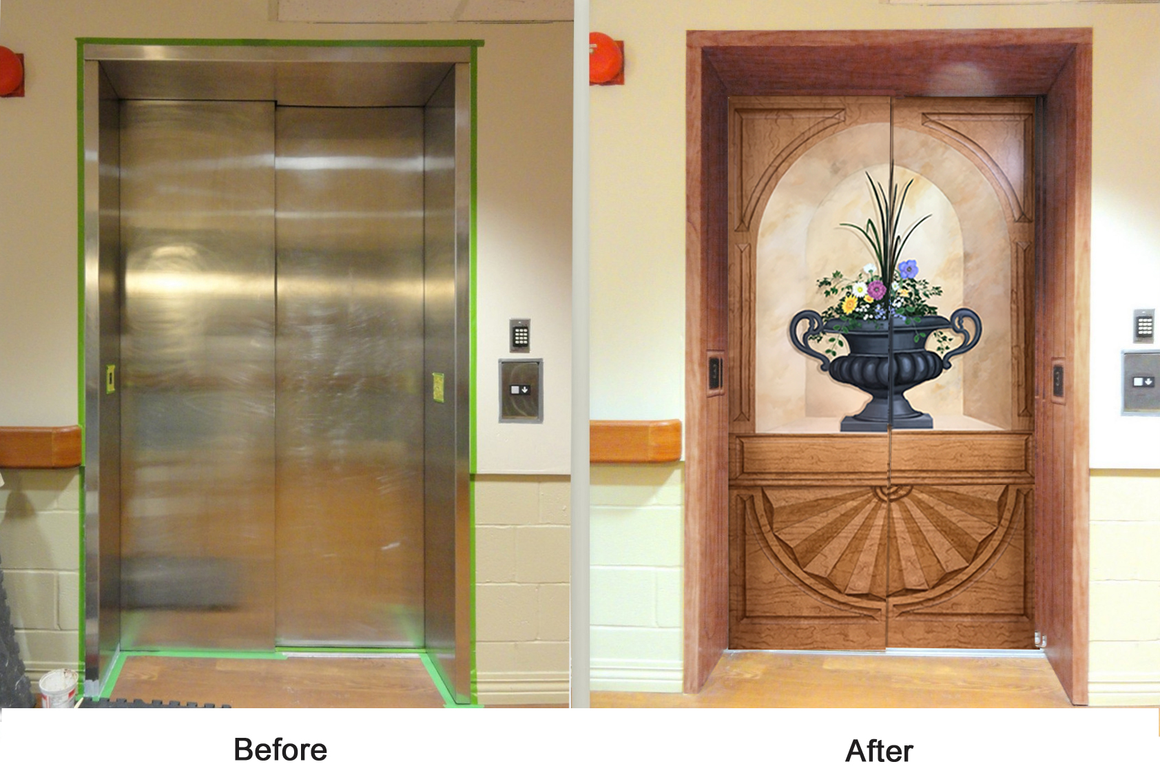 Before and After of Ritz elevator.jpg