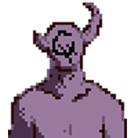 it's a lil demon dude from a tabletop RPG I'm running. it's a marble statue with a dead person inside and it gives wonderful hugs.