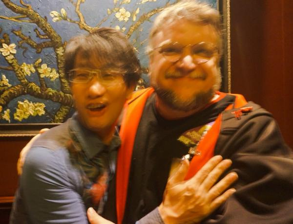MGS series creator Hideo Kojima shows a rare instance of human affection for c reative partner  Guillermo del Toro.