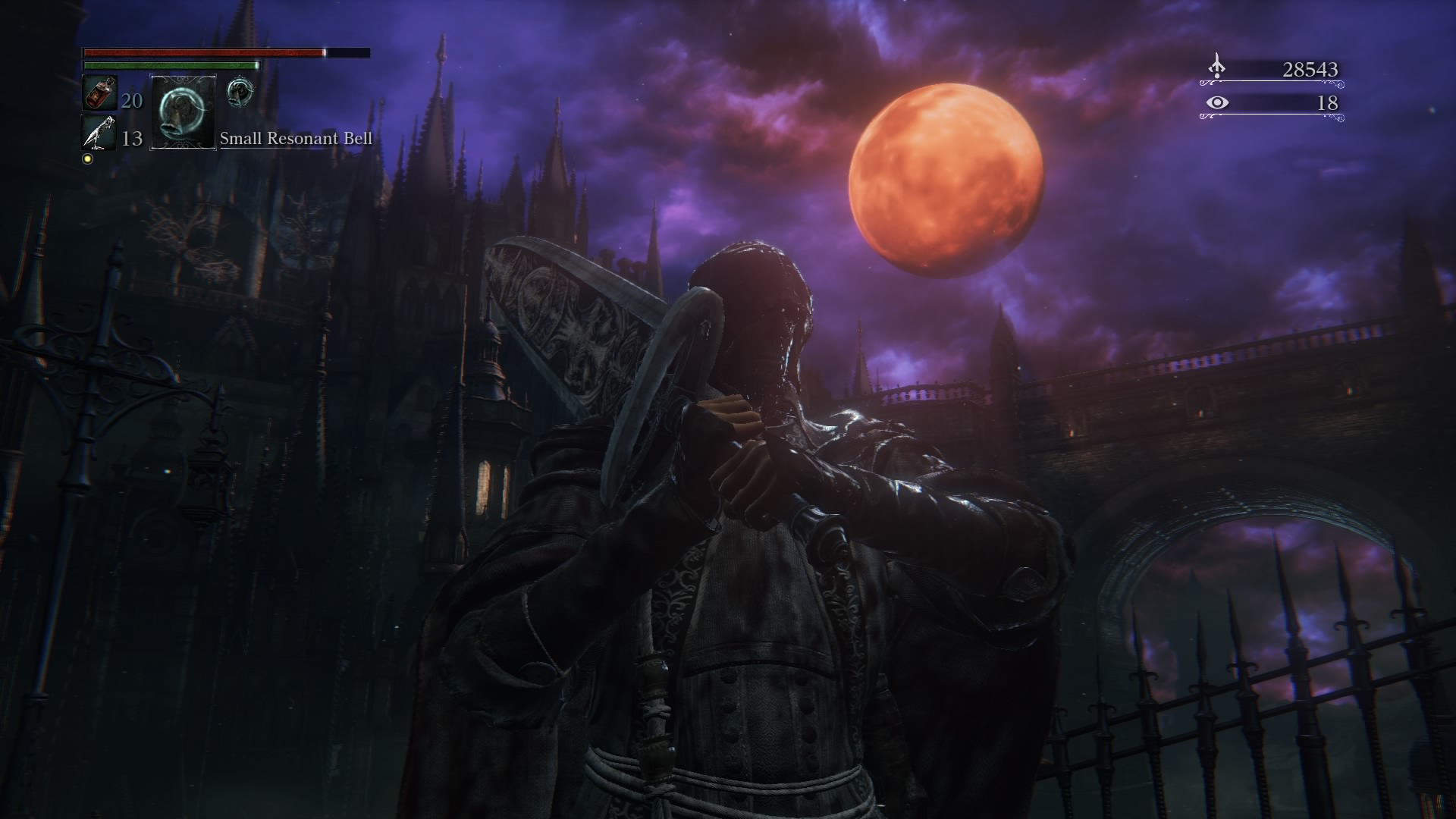 So much of bloodborne is so incredibly intense that i find myself, in the quieter moments of respite, taking selfies with the moon.