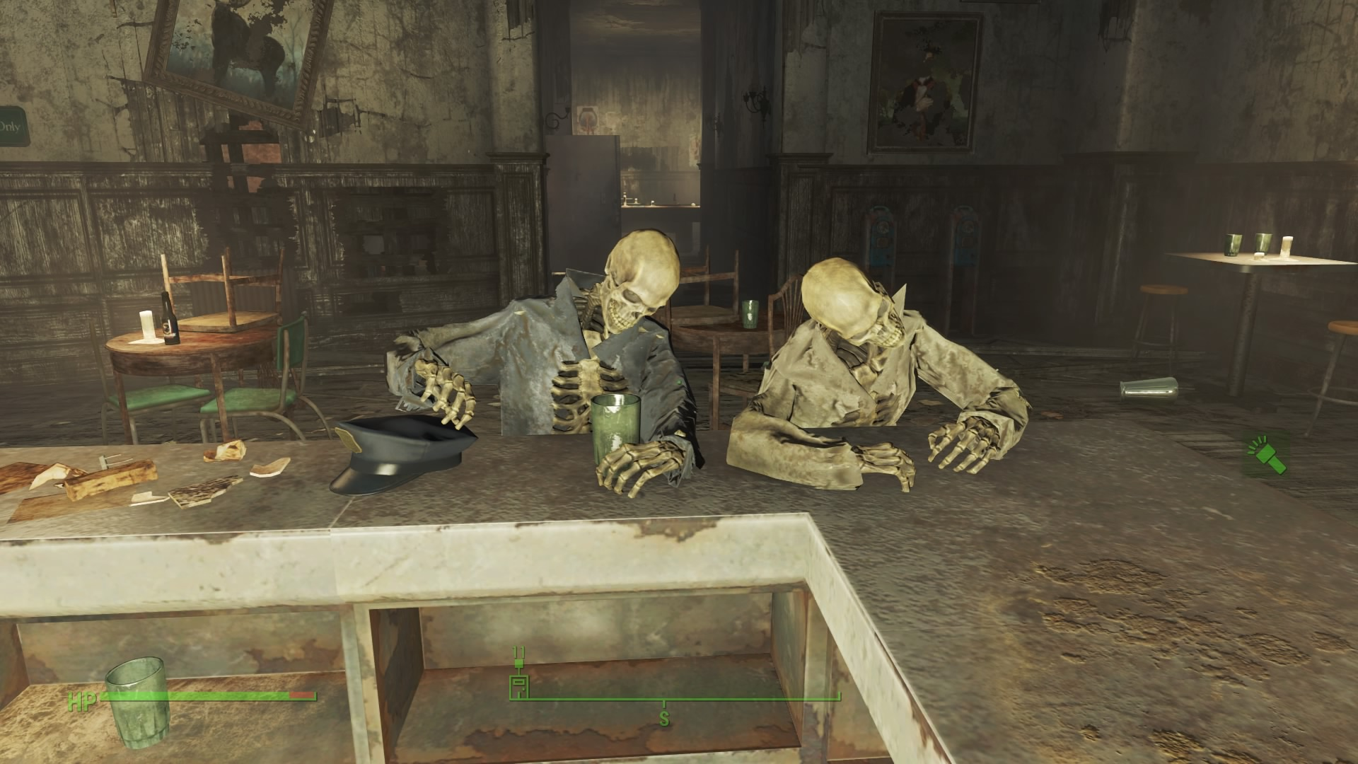 Even Cliff and Norm are assuming their positions at the bar...amazing Bethesda, nerdy but amazing.