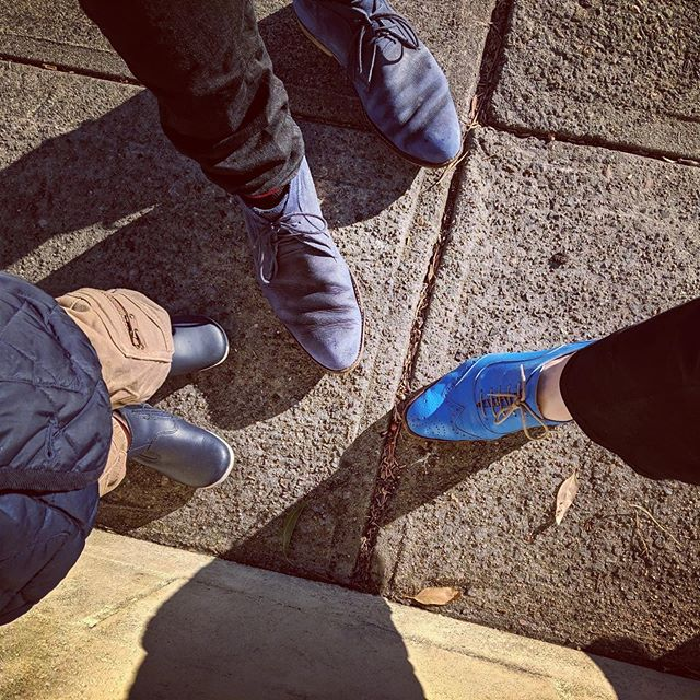 All in blue, the blue shoe crew