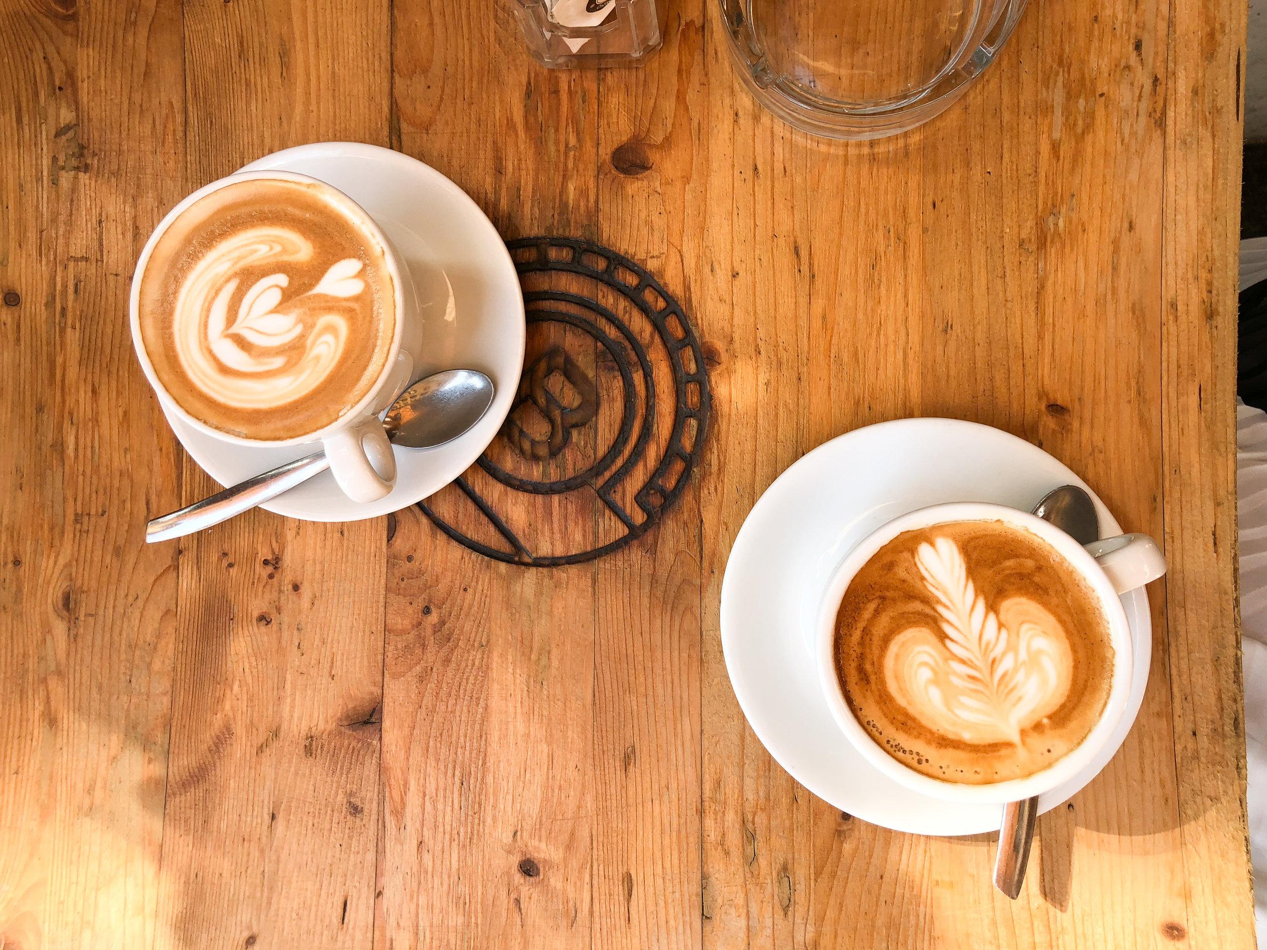 cappuccinos at Pergamino Caffe