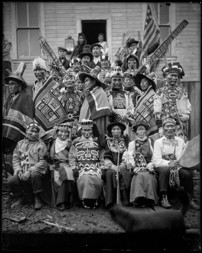 The Tlingit Potlatch of 1904 in Sitka Alaska Photograph by E.W. Merrill - National Park Service