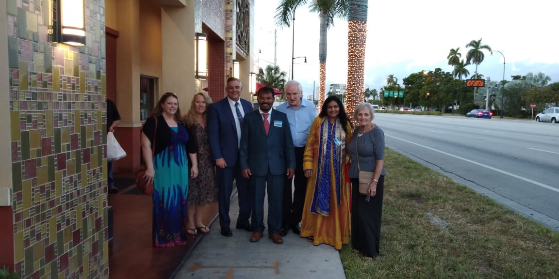 From left to right:  Prophetess Rebecca Murzin, Pastor Christy Detrude, Apostle George Jackman, Pastor Kishor, John Ventresco, Mary Senapati, Judy Batchelder.