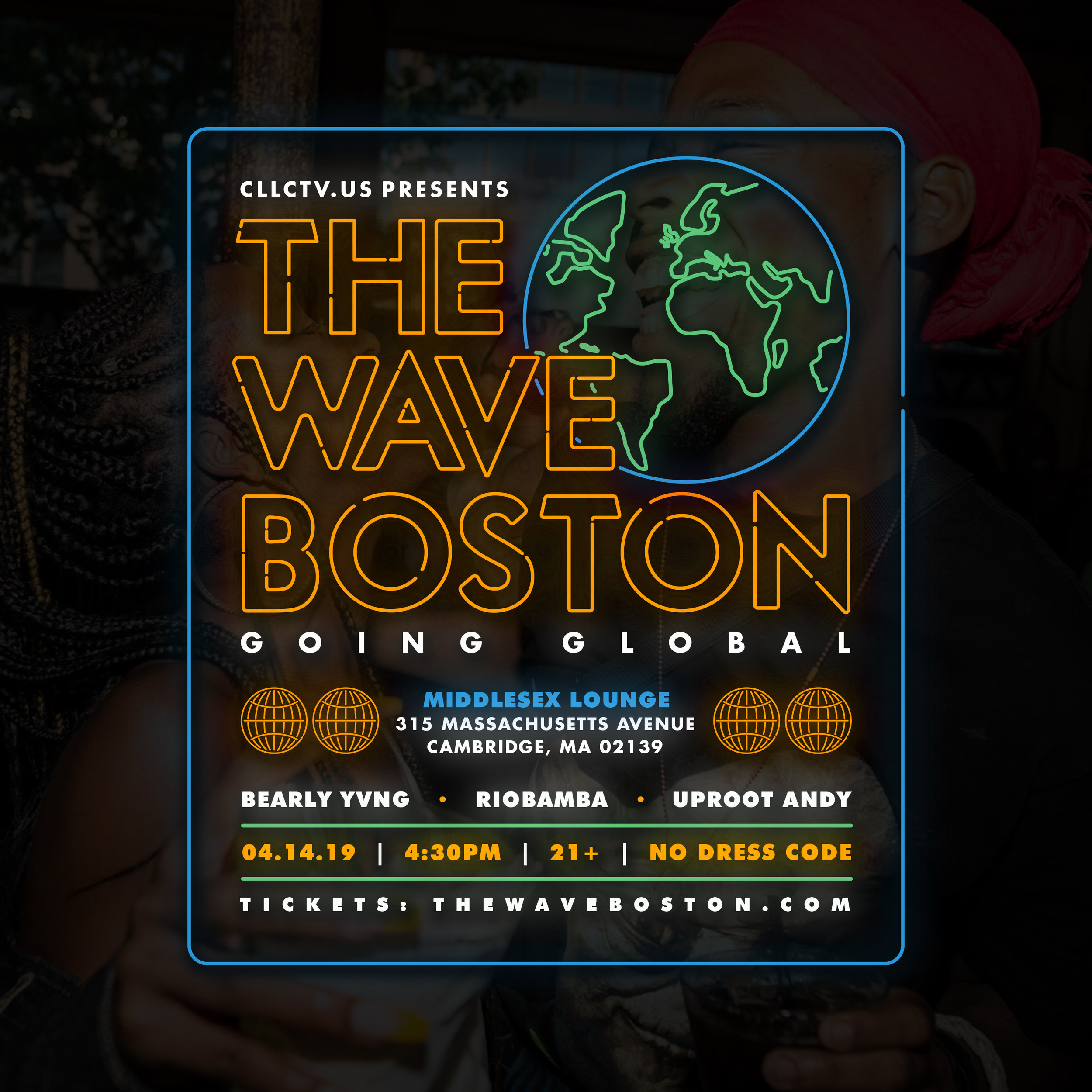 The Wave Boston returns to Middlesex Lounge on Sunday, April 14th. If we can't control the temperature outside, we'll do our best to heat it up inside. This month we'll be welcoming two DJs that are experts at bringing the tropical heat to make you dance. Uproot Andy will be making his debut at The Wave Boston. We'll also be welcoming back one of our favorite DJs, Riobamba, to rock another legendary set. They will be joined by the Bearly Yvng brothers. If you love to dance, you won't want to miss this one! Get your tickets now.