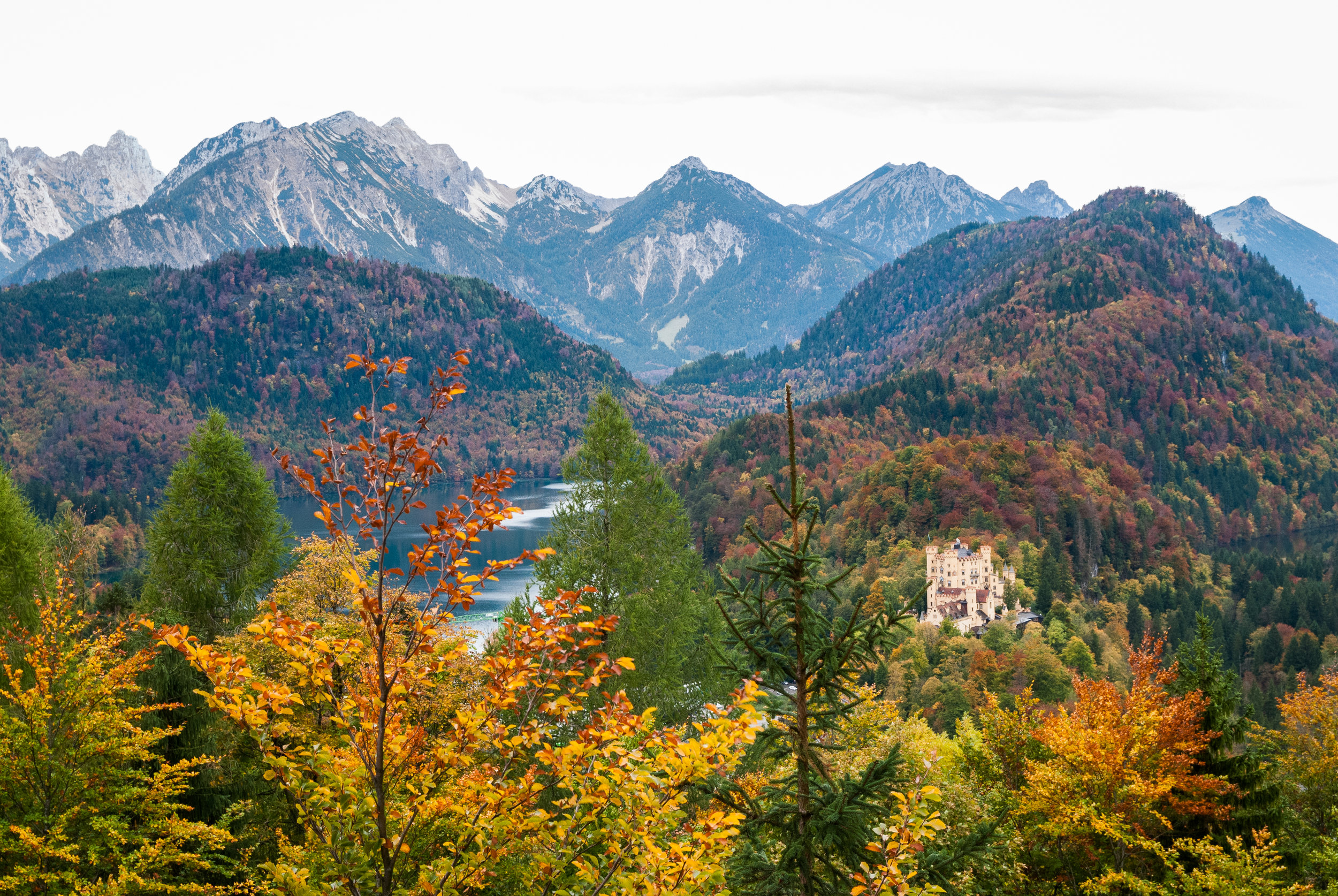 Autumn in Bavaria makes every landscape look out of this world. Hohenschwangau, Bavaria, Germany