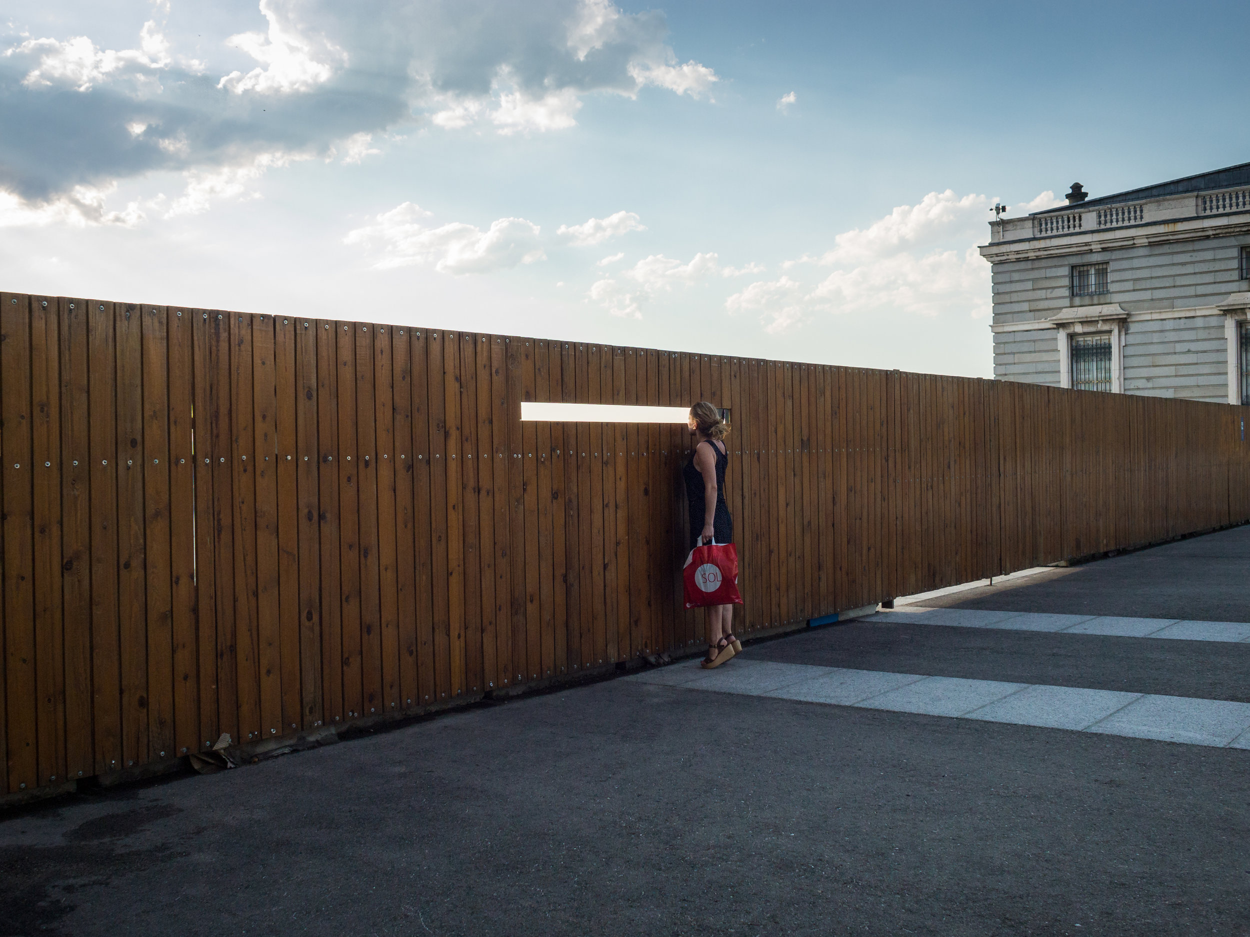 Curiosity in Madrid, Spain