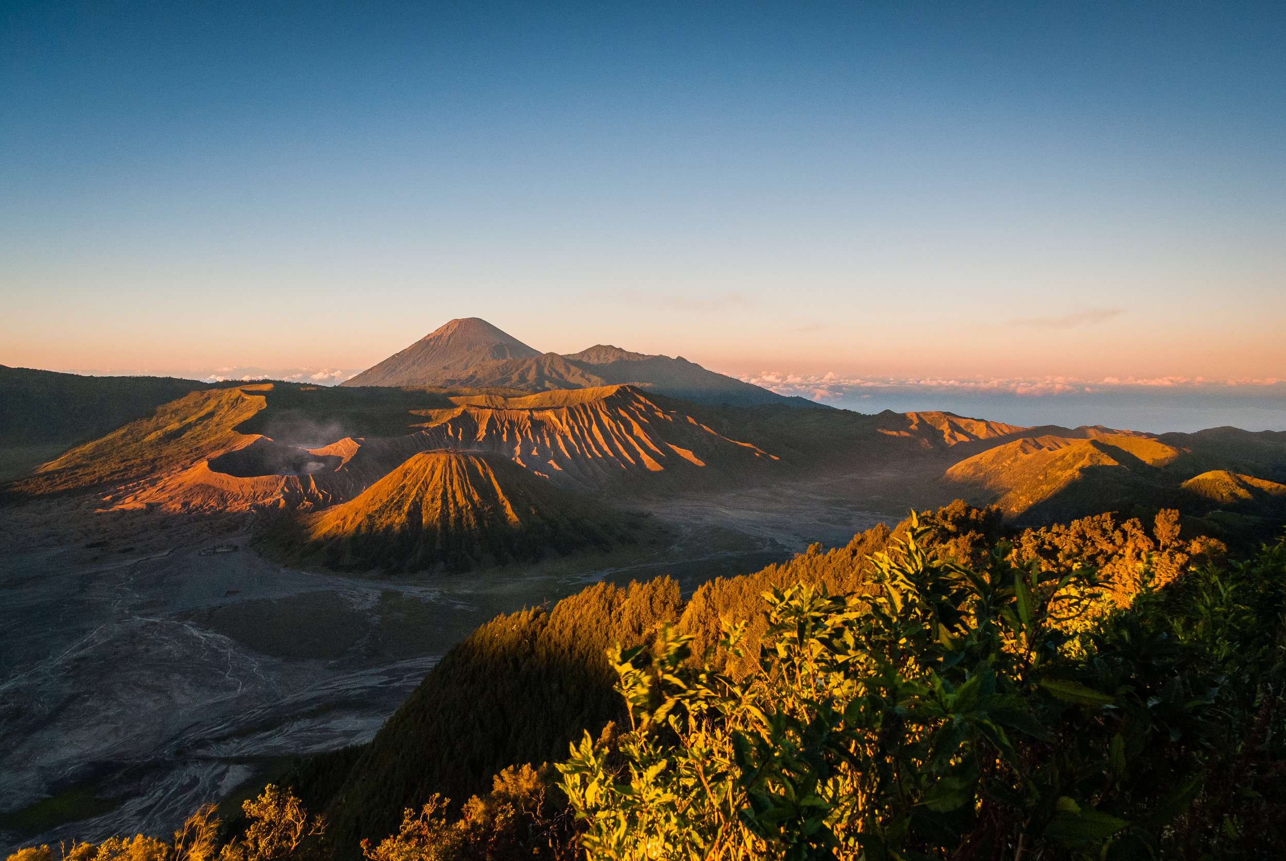 Mount Bromo at sunrise Java, Indonesia